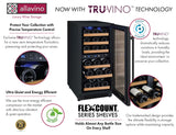 "Tru-Vino Dual Zone 15"" Wide 30 Bottles Black Wine Refrigerator - TRUTAI"