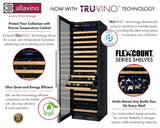 Tru-Vino 174 Bottle Single Zone Stainless Steel Right Hinge Wine Refrigerator - TRUTAI