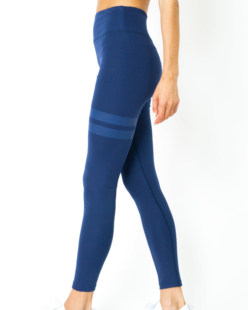 Ashton Leggings - Navy Blue - TRUTAI