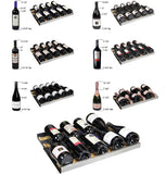 "Tru-Vino 354 Bottle Dual Zone 47"" Wide Black Side-by-Side Wine Refrigerator - TRUTAI"