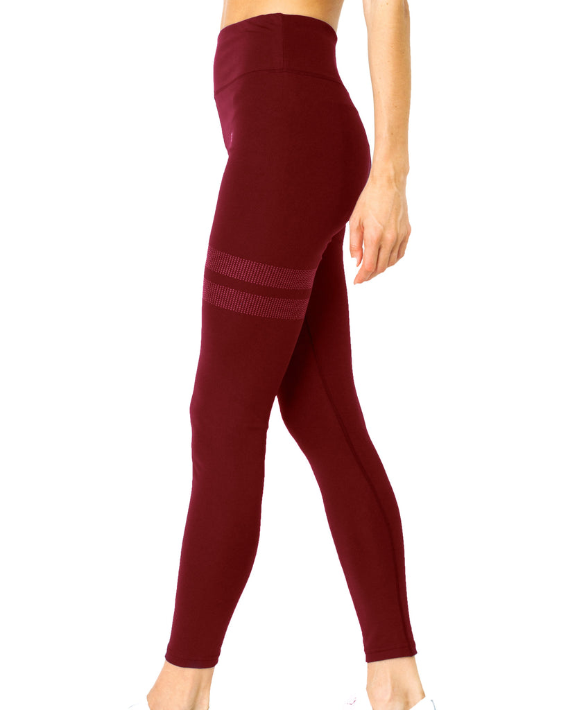 Ashton Leggings - Maroon - TRUTAI