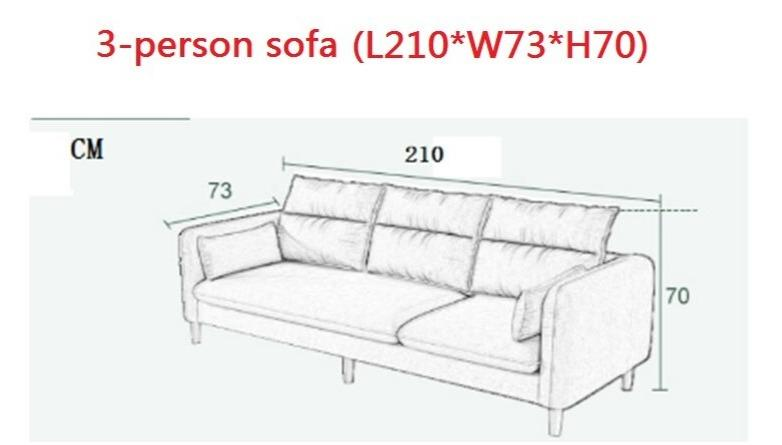 Comfortable Three Person In-Line Sofa - TRUTAI