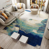 Gorgeous Gold Line Decorative Modern Style Rug - TRUTAI