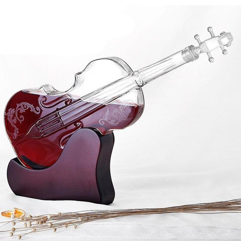 Violin Craft Hollow Model High Boron Glass Wine Decanter - TRUTAI