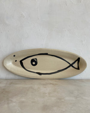 oval fish serving plate - Npage - Natalie Page