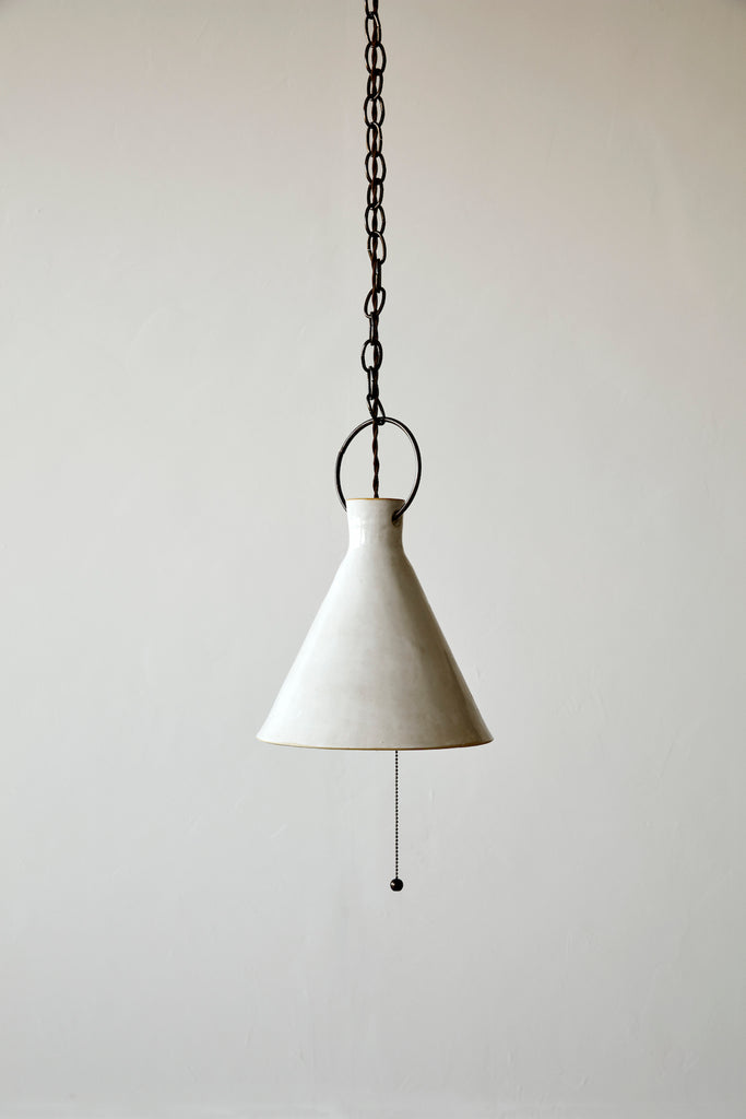 Large Ceramic Funnel Light -Pendant -  Natalie Page - Npage studio