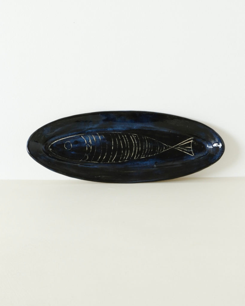 Deep Blue Fish Tray