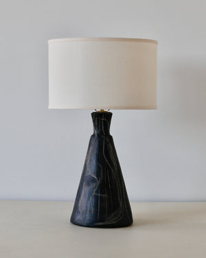 Black Sgraffito Table Lamp