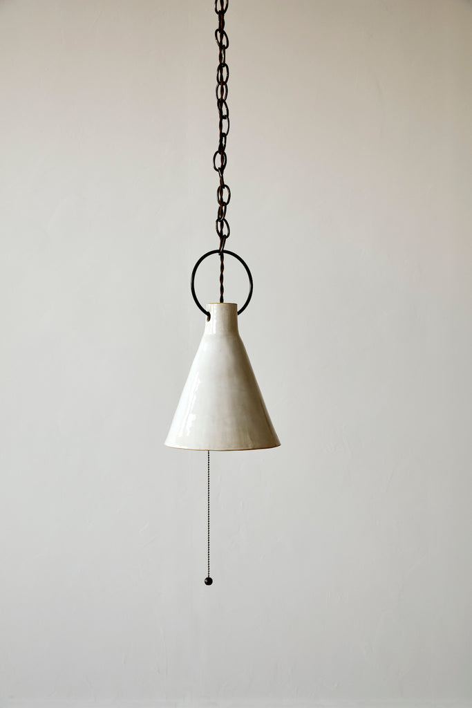 Medium Ceramic Funnel Light - Pendant - Natalie Page - Npage studio