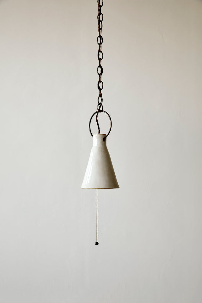 Small Ceramic Funnel Light - Pendant - Natalie Page - Npage Studio