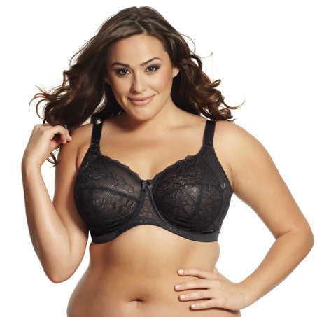 Rose Bra Banded Black