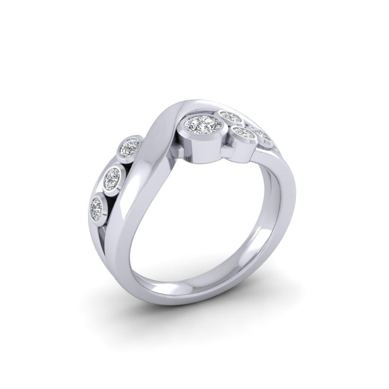 18ct White Gold 0.46ct Bespoke Design Diamond Ring