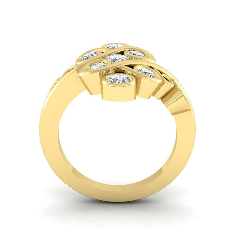 9ct Gold Re-Design Using Clients Diamonds.