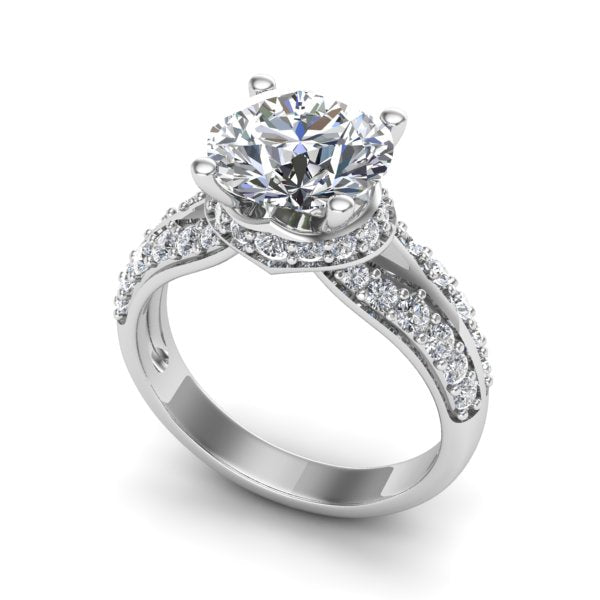 Ladies Bespoke Design 2.90ct Brilliant Cut Diamond Engagement Ring