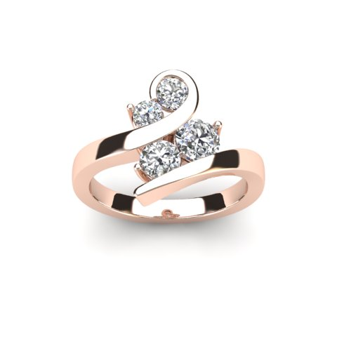 Ladies 9ct Rose Gold 0.86ct Bespoke Design Diamond Ring