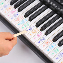Load image into Gallery viewer, 88/61 key color piano letter notes stickers
