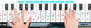 88/61 key color piano letter notes stickers