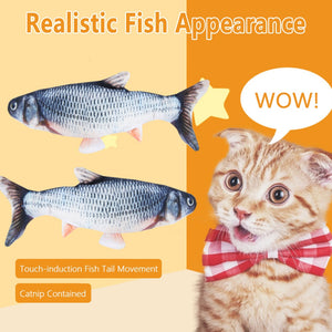 Electronic Cat USB Charging Simulation Fish Toy