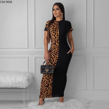 Load image into Gallery viewer, Leopard Printed long Maxi dress