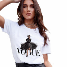 Load image into Gallery viewer, Graphic Print Vogue T-shirts