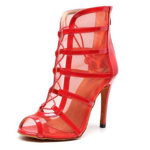 Woman High Top Latin Dance Shoes