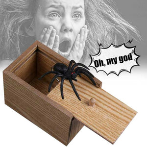 Hot Halloween Wooden Spider prank