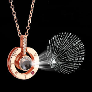 100 Languages Memory Of Love Necklace