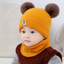 Load image into Gallery viewer, Baby Winter Hooded Beanies Hats