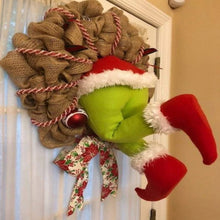 Load image into Gallery viewer, Christmas thief Stole Christmas Burlap Wreath