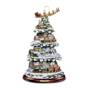 Wonderland Express Tree Inspired by the art of Thomas Kinkade