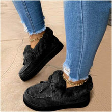 Load image into Gallery viewer, Cotton Suede Lace Up Flat Boots