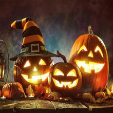 Load image into Gallery viewer, Halloween Talking Animated Pumpkin with Built-In Projector & Speaker.