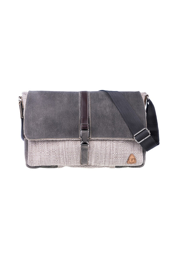 GAIL Messenger Bag - Leather and Fabric