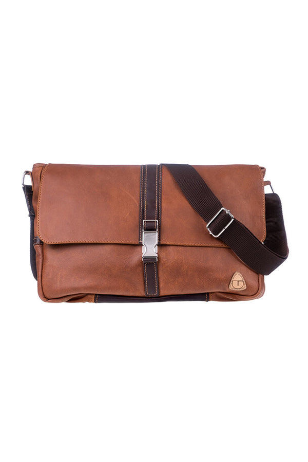 GAIL Messenger Bag - Brown Leather