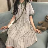 Casual Polo Plaid Dress