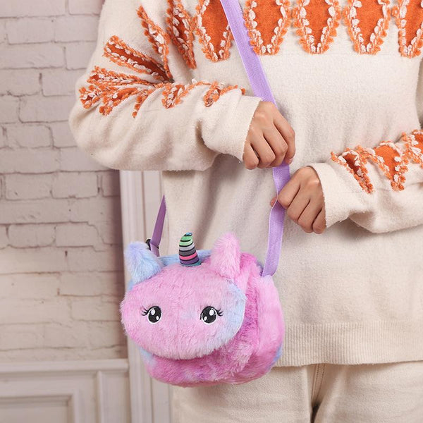 Unicorn Plush Crossbody Bag