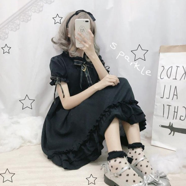 Short Sleeve Lolita Kawaii Dress