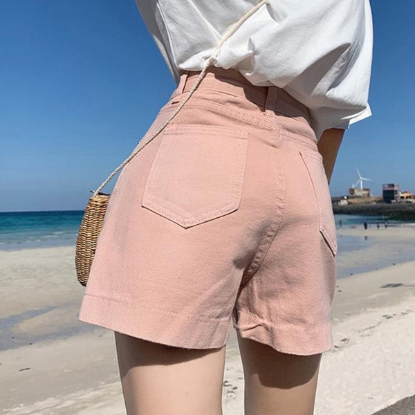 Pink Trendy Hot Shorts