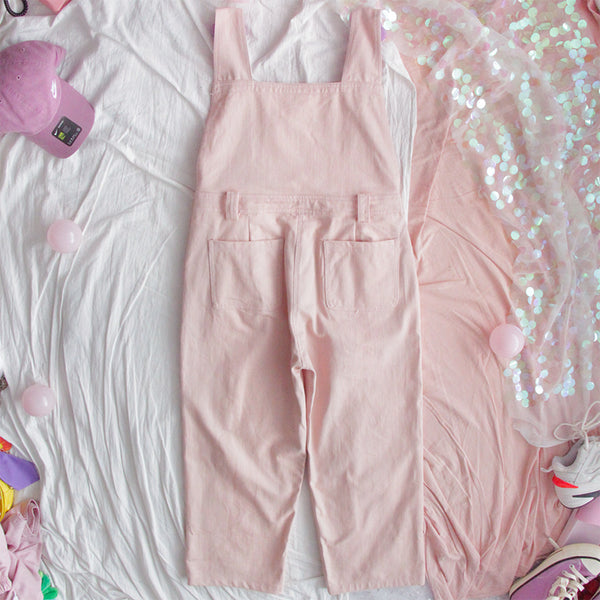 Pink Loose Supender Trousers