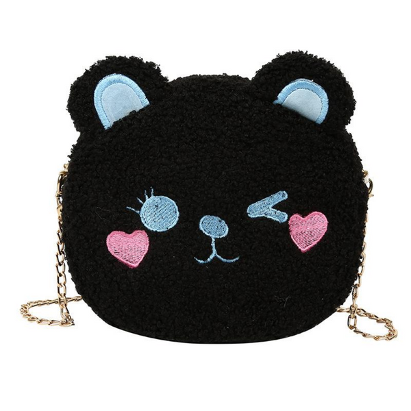 Winking Bear Plush Bag