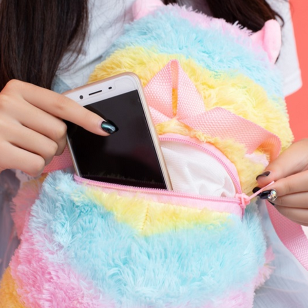 Kawaii Alpaca Toy Backpack