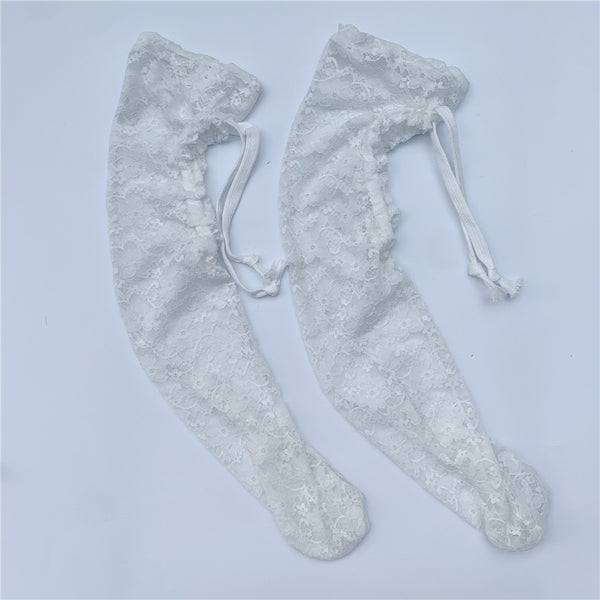 Peach Heart Lace Socks