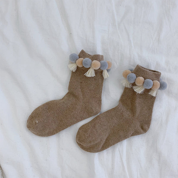 Hairball Wheat Ear Tassel Socks