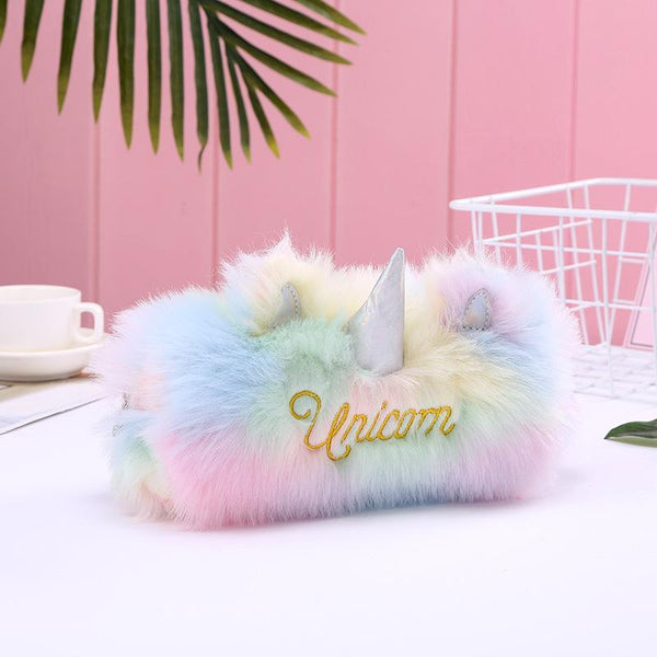 Plush Unicorn Cosmetics Bag