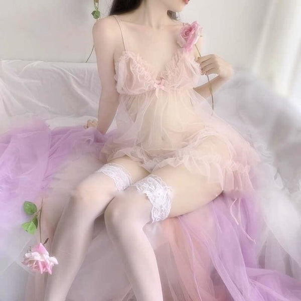 Peach Fairy Nightdress Lingerie Sets