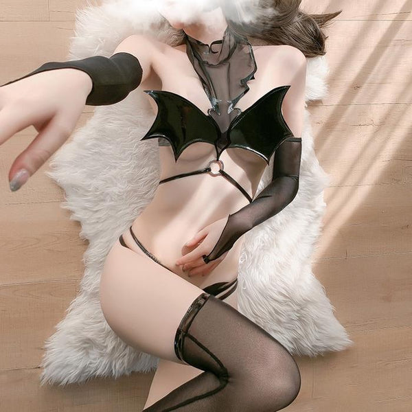 Bat Wing Lingerie Set