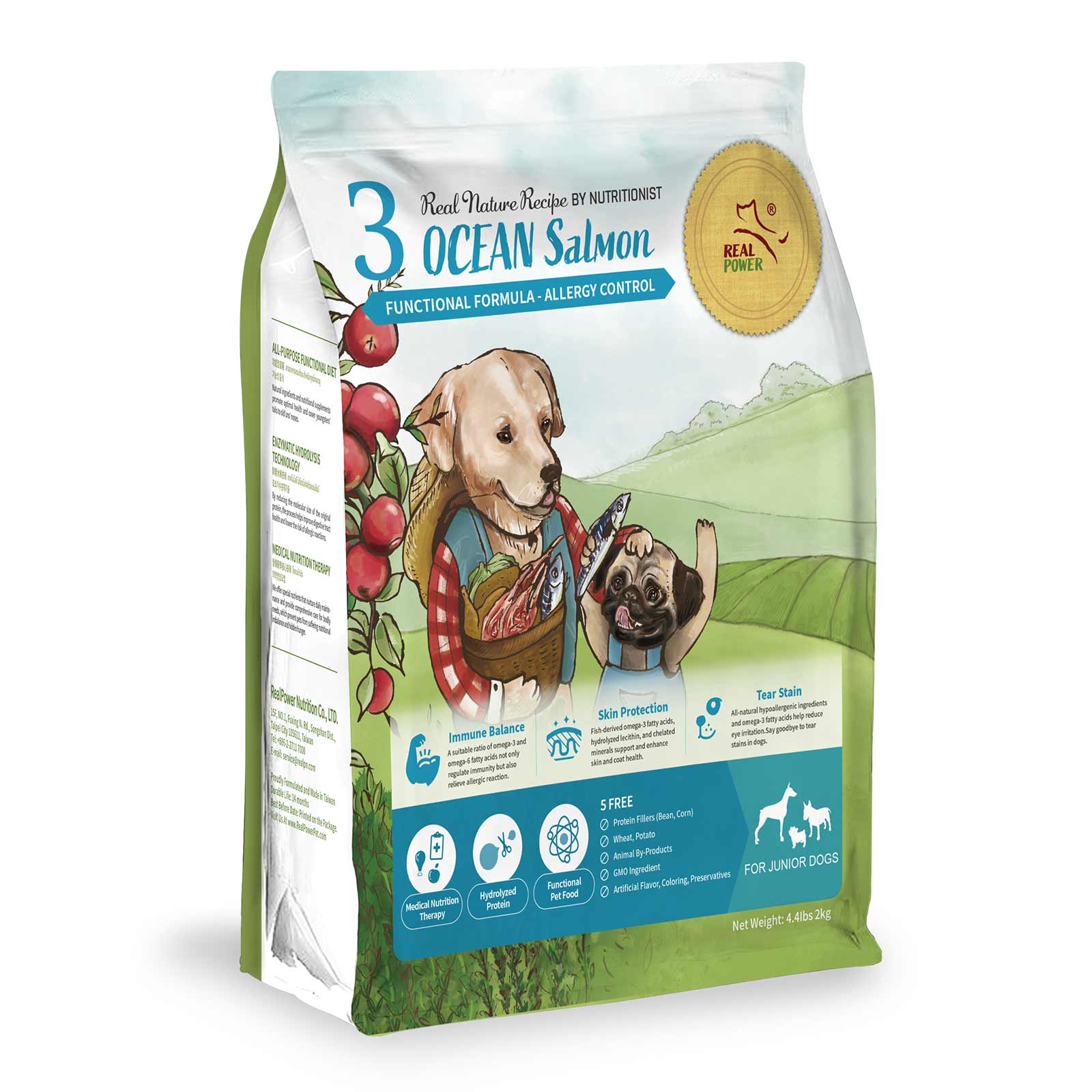 Dog Food for Junior No. 3 OCEAN Salmon
