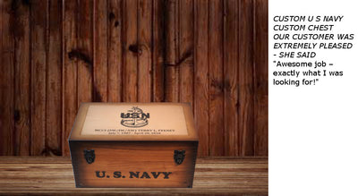 Custom U S Navy Keepsake chest