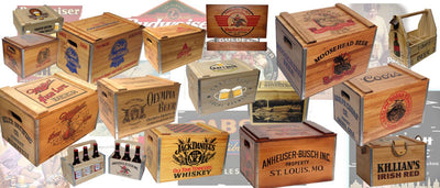 Man Cave Antique Beer Case Reproductions