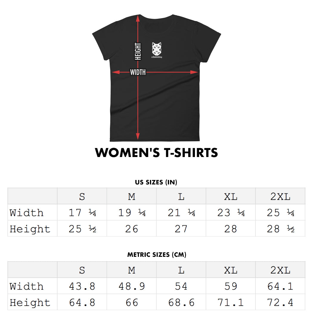ladies t-shirts size guide